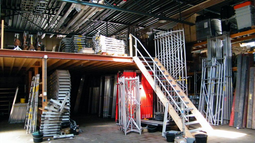 Dubbele verdieping steiger